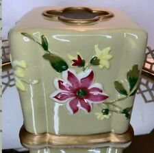 Tissue Holder Cover Floral Square Bath Bedroom Boudoir #1711