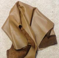 ELK01 Leather Elk Skin Hide Upholstery Craft Fabric Brown