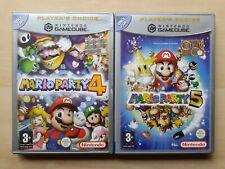 *NH* Lotto Gamecube Super Mario Party 4 & 5 italiano Pal Nintendo game cube