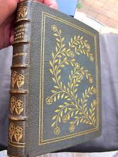 FINE LEATHER BINDING Letterpress Printing TYPOGRAPHY 1st ED. Provenance PRESS