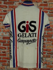 Shirt Bike Shirt Maillot Cycling Heroic Vintage Gis Campagnolo 50% Wool