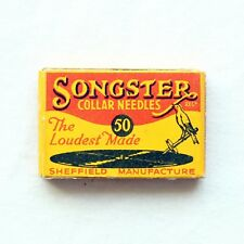 GRAMOPHONE NEEDLE PACKET - Songster Collar Needles (50 Sealed) [NEEDLE TIN]