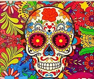 2-in-1 Puzzles Sugar Skull Dia de los Muertos Colorful Mexican Ukuleles