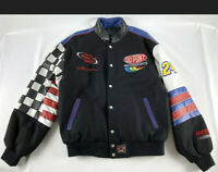 Jeff Gordon Winston Cup Champion Jeff Hamilton Leather Jacket Black - Size L
