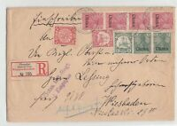 CHINA 1902 Registered Cover Deutsche Post Shanghai to Germany, Mixed franking!