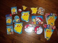 Pokemon NEW Birthday Invitations, Thank You Cards, Assorted Decorations, AWESOME