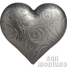 SILVER  HEART - 1 oz Antique Finish Silver Coin in BOX+COA $5 Dollars 2018 Palau