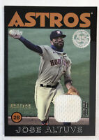 2021 Topps Series 1 1986 Relic 86R-JA Jose Altuve GAME-USED BLACK PARALLEL /199