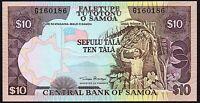 2002 Samoa 10 Tala Banknote * G 160186 * aUNC * P-34a *
