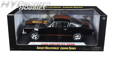 SHELBY COLLECTIBLES 1:18 1966 SHELBY GT 350H W/ GOLD STRIPES DIE-CAST BLACK 360