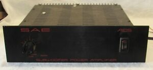 Vintage SAE Model A105 Stereo Subwoofer Power Amplifier Made in USA F