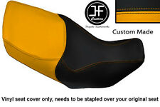 YELLOW & BLACK VINYL CUSTOM FITS HONDA XL 1000 V VARADERO 99-07 DUAL SEAT COVER