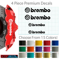4 Decal Vinyl Stickers Fits Brembo Brake Caliper - 751 Heat Resistant - Fast!
