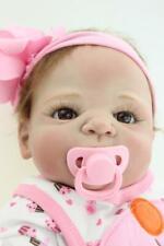 """Muñecas Full Silicone Body Reborn Girl Dolls Lifelike Bath Baby Doll 20"""" 50 CM"""