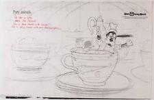 Walt Disney World Original Illustrator Artist Proof Print Tea Cups Goofy 2/5