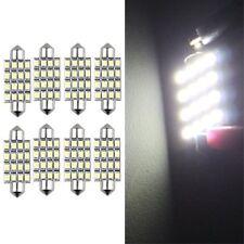 8 LAMPADINE SILURO 16 LED SMD BIANCO LUCI INTERNO 42MM HK