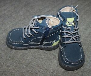 Livie & Luca Baby Boys Vintage Navy Suede Toro Boots Shoes - Size 6 - NEW NO BOX