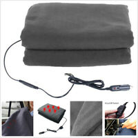 12V Car Heating Blanket Cover Gray Temperature Adjustable High/Low Comfortable
