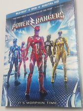 Power Rangers (Blu-ray Disc + DVD + Digital HD, 2017) NEW with slip cover.