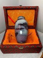 Chinese Jun Porcelain Vase ~ Kong Jia Jun Yao- In Box - 6 inches Tall ~NIB