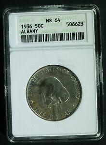 1936 ALBANY Commemorative Half $ - MS-64 (ANACS, Old holder)  stk#6623