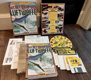 Secret Weapons of the Luftwaffe - Lucasfilm Games - PC IBM Big Box 5.25 Floppy