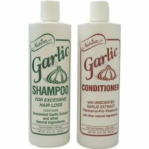 Nutrine Garlic Shampoo  + Conditioner (Unscented) 16oz For Excessive Hair Loss