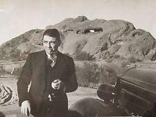 Antique American Man Packard 1930s Car Desert Pipe Smoking Artistic Sun Nm Photo
