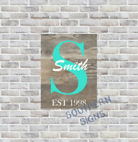 Your name Custom Personalized Family Name Wall Art Decor 9x12 Metal Sign SS193