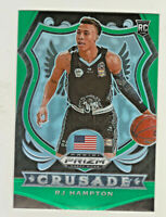 2020-21 Panini Prizm Draft CRUSADE GREEN PRIZM #93 RJ HAMPTON RC Rookie Nuggets