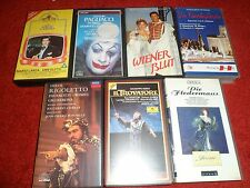 Bundle of 7 very rare PAL/NTSC VHS - OPERA, Operrette and shows from Osterreich
