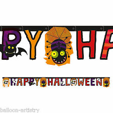 1.8m Happy Halloween Cheerful Mummy Monsters Party Letter Banner Decoration