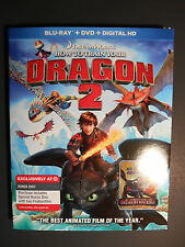 How to Train Your Dragon 2 (Blu-ray Disc, 2014, 3-Discs) Target Ex W/Slipcover