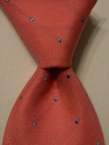 CHARLES TYRWHITT Mens 100% Silk Necktie Designer POLKA DOT Pink/Blue Classic EUC