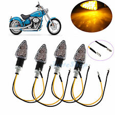 "4x1/2""LED Universl Motorcycle Turn Signals Light Indicator Lamps Motorbike Amber"