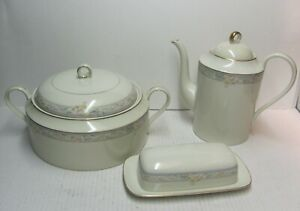 Mikasa Charmaine Coffee Pot Covered Casserole Butter Gold Trim - of Your Choice