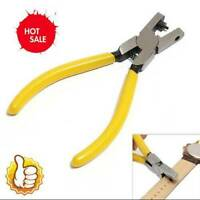 Universal Yellow Hand Leather Strap Watch Band Belt Tool Hole Punch Plier 2.0 mm
