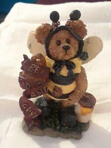 Boyds Bears Bearstone Collection Bumble Bee Teddy Bears Figurine New in Box 1995