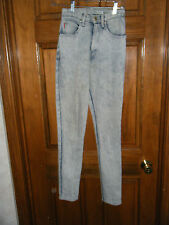 Vintage 1980's Acid Washed No! Jeans Skinny Straight Leg Jeans - Size 3