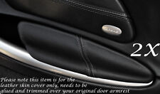 GREY STITCH FITS PORSCHE BOXSTER 986  2X DOOR ARMREST LEATHER COVERS ONLY