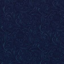 KING OF THE RANCH~BY 1/2 YD~MODA~DARK BLUE TOOLED LEATHER~COTTON PRINT~11216-12