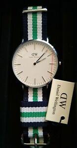 New Daniel Wellington Classic Wristwatch Watch Nato Strap Minimalist Design Box