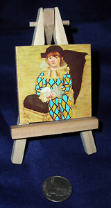 Pablo Picasso, The Son of the Artist in a Clown Suit, Mini-Art Print & Easel