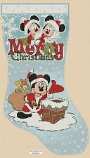 Counted Cross Stitch MICKEY'S CHRISTMAS STOCKING - COMPLETE KIT #10-26