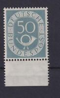 Bund 134 Posthorn 50 Pfennig postfrisch UR mit Altsignatur (et153)