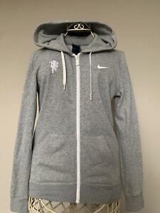 Nike Ladies Grey Full Zip Hoodie Top Size Small Uk 10
