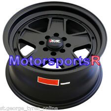 15 INCH XXR 532 BLACK WHEELS DRIFT STYLE PACKAGE GENUINE XXR RIMS OLD SKOOL