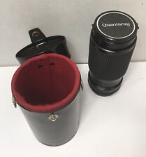 Vintage Quantaray Auto Zoom 75-200mm Macro Camera Lens with Carrying Case 1:4.5