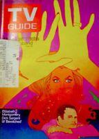 TV Guide 1970 Bewitched Elizabeth Montgomery Dick Sargent Bob Peak VG COA
