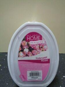 4 x GEL AIR FRESHENERS Tuscany Rose Fresh Scent Home Living Room
